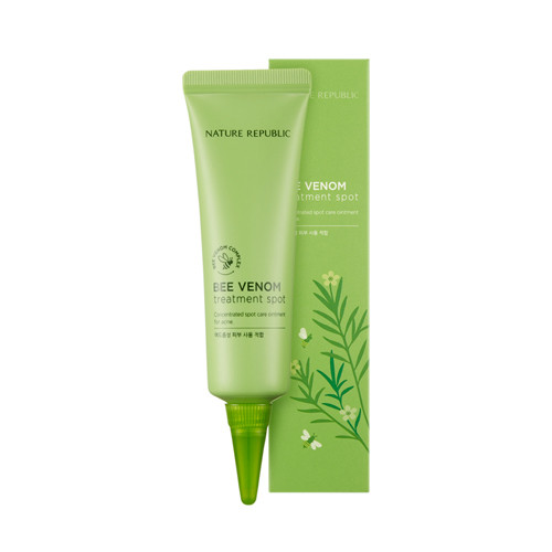 image of 韓國 Nature Republic 蜂毒怯痘精華霜 30mL            Korea Nature Republic Bee Venom Treatment Spot 30mL