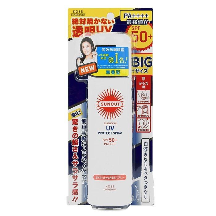 image of 高絲 KOSE 曬可皙 高效防曬噴霧 90g      KOSE Suncut UV Protect Spray Sunscreen SPF50++++ 90g