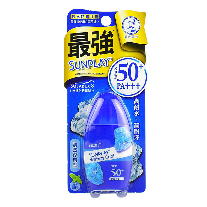 image of 日本 曼秀雷敦 SUNPLAY 防曬乳液 清透涼爽 35mL SPF50+/ PA+++  Mentholatum Japan SUNPLAY Super COOL Sunscreen Lotion 35mL SPF50+/ PA+++