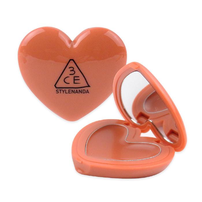 image of 韓國 3CE 愛心唇膏 1.4g #MAROON BEIGE    Korea 3CE Stylenanda Heart Pot Lip Balm Lovely #Maroon Beige 1.4g