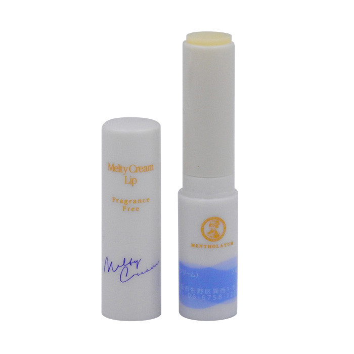 image of 曼秀雷敦 頂級濃潤柔霜潤唇膏 3.3g 無香料    Mentholatum Melty Cream Lip Fragrance Free 3.3g