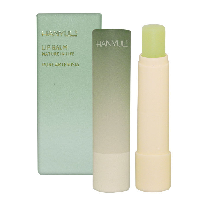 image of 韓國 Hanyul 韓律 花草漸層潤色護唇膏 4g #.艾草綠   Korea Hanyul Lip Balm, Pure Artemisia 4g