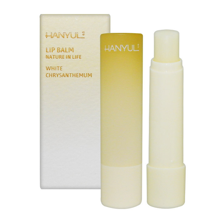 image of 韓國 Hanyul 韓律 花草漸層潤色護唇膏 4g #.白花黃    Korea HANYUL LIP BALM NATURE IN LIFE 4G #. WHITE CHRYSANTHEMUM