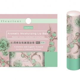 image of fleurient 沁潤保濕護脣膏 無色/茉莉    fleurient Jasmine Aromatic Moisturizing Lip Balm