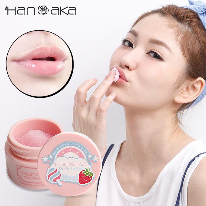 image of HANAKA 花戀肌 唇部去角質啾啾霜 15ml 草莓棉花糖  HANAKA - Chu Chu Lip Scrub Strawberry & Cotton Candy 15mL