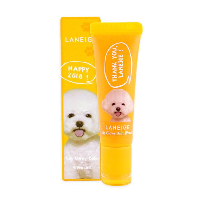 image of 韓國 LANEIGE 蘭芝 潤色護唇蜜(2018限定版) 10g #蜜桃(橘色)  Korea LANEIGE Lip Glowy Balm (Peach) 10g