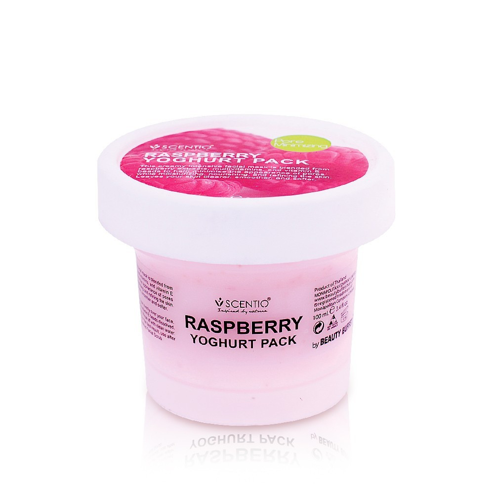 image of 泰國 SCENTIO 覆盆莓緊緻優格面膜100ml    Thailand SCENTIO  Raspberry Yoghurt Pack 100ml