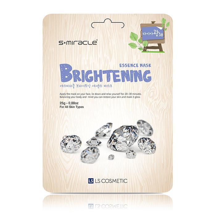 image of 韓國 S+Miracle 膠原蛋白面膜 25g #.亮白   Korea S+Miracle Diamond Radiance Brightening Essence Mask 25g