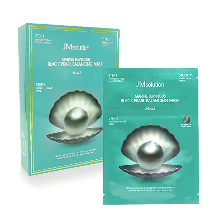 image of 韓國 JMsolution 海洋珍珠平衡角質調理黑面膜(10片/盒)   Korea JMsolution Marine Luminous BLACK Pearl balancing Mask 10 pcs /pack