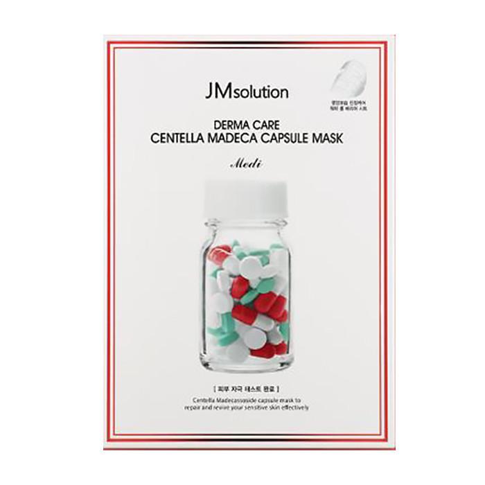 image of 韓國 JMsolution 膠囊修護面膜(單片) 紅(積雪草)   Korea JMsolution Derma Care Centella Madeca Capsule Mask