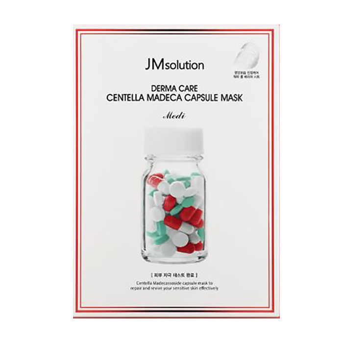 韓國 JMsolution 膠囊修護面膜(單片) 紅(積雪草)   Korea JMsolution Derma Care Centella Madeca Capsule Mask