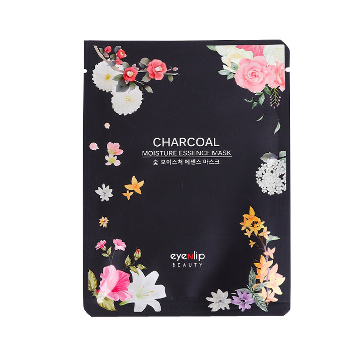 image of 韓國 Eyenlip 保濕精華面膜(單片) 竹炭25ml   Korea Eyenlip Charcoal Moisture Essence Mask 25ml