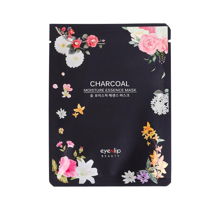 image of 韓國 Eyenlip 保濕精華面膜(單片) 竹炭25ml   Korea Eyenlip Charcoal Moisture Essence Mask 25ml