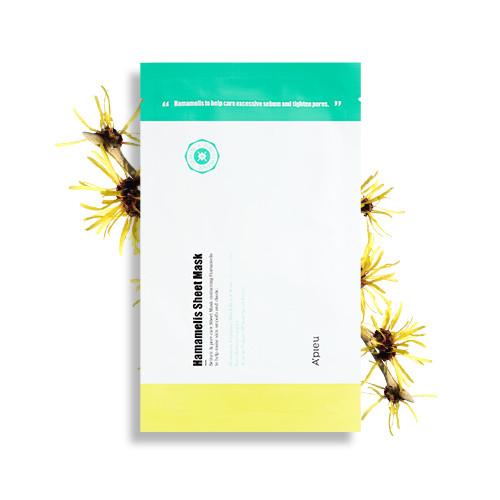 image of 韓國 Apieu 金縷梅控油面膜(單片)   Korea Apieu Hamamelis Sheet Mask