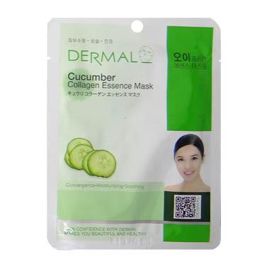 image of 韓國 DERMAL面膜 23g NO.17.小黃瓜菁華面膜   Korea DERMAL Cucumber Collagen Essence Mask 23g