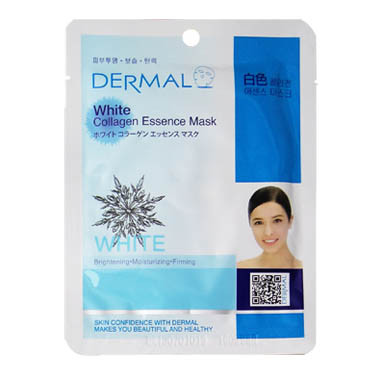 image of 韓國 DERMAL面膜 23g NO.29.潤白保濕面膜  Korea Dermal White Collagen Essence Mask 23g