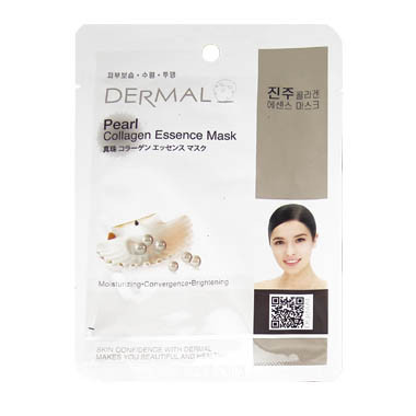 image of 韓國 DERMAL面膜 23g NO.13.珍珠菁華面膜  Korea Dermal Pearl Collagen Essence Mask 23g