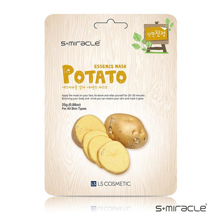 image of 韓國 S+Miracle 膠原蛋白面膜 25g #.馬鈴薯 Korea S+Miracle Potato Essence Mask 25g