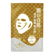 image of SexyLook 煥顏限定 黃金煥顏雙拉提(耳掛)面膜 單入   SexyLook Golden Bird's Nest + Gold Caviar Double Lifting Mask