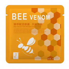 image of TT 波特嫚 炫彩天絲膜系列 蜂萃賦活修護天絲面膜 單片 30ml  TT Bee Venom Anti-Wrinkle Firming Mask 30ml
