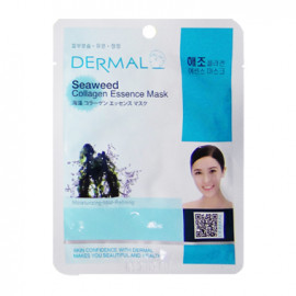 image of 韓國 DERMAL面膜 23g NO.16.海藻調理面膜  Korea Dermal Seaweed Collagen Essence Mask 23g