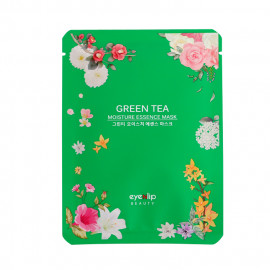 image of 韓國 Eyenlip 保濕精華面膜(單片) 綠茶25ml  Korea Green Tea Moisture Essence Mask 25ml
