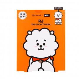 image of 韓國 MEDIHEAL BT21聯名款 保濕面膜(附贈書籤明信片) 4片/盒 RJ   Korea MEDIHEAL BT21 RJ Mediheal Face Point Mask Sheet (4pcs/box) Bookmark Postcard