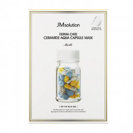 image of 韓國 JMsolution 膠囊修護面膜(單片) 黃(水庫補水)   Korea JMsolution Derma Care Ceramide Aqua Capsule Mask