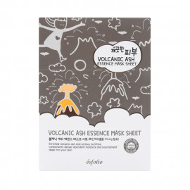 image of 韓國 esfolio 高效精華面膜(10片/盒) 火山泥   Korea Esfolio Volcanic Ash Essence Mask Sheet (10pcs/box)
