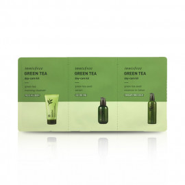 image of 韓國 innisfree 濟州綠茶保養3件旅行組(day care)   Korea innisfree green tea day care kit