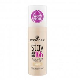 image of 德國 essence 艾森絲 16hr 持久粉底液 30mL #.10 Soft Beige 明亮膚  Germany essence Stay All Day 16h long-lasting make-up 30ml #.10 Soft Beige