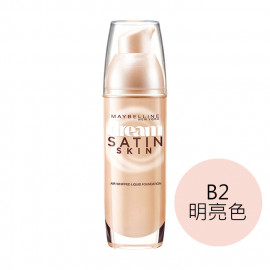 image of MAYBELLINE 媚比琳 夢幻奇蹟無瑕粉底液 SPF24/PA++ 30mL #.B2明亮色  Maybelline New York dream satin skin spf 24.PA++ 30mL #B2 Luminous Beige