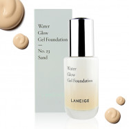 image of 韓國 LANEIGE 蘭芝 水透光無瑕粉底液 35g #.23 Sand    Korea LANEIGE Water Glow Gel Foundation 35g#.23 Sand