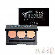 image of 1028 眼部修修 熊貓眼三色遮瑕盤 2.1g   1028 Visual Therapy 3-in-1 Corrector Palette Dark Eyes Concealer 2.1g