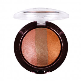 image of 美國 Nicka.K 烘焙珠光3色眼影 03焦糖色7g   United States Baked EyeShadow #03 Sparkle Bronze 7g