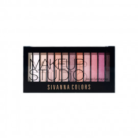 image of Sivanna HF202 12色珠光霧光眼影盤 01光艷紅塵 Sivanna HF202 Sivanna Colors Makeupstudio Deluxe Eyeshadow