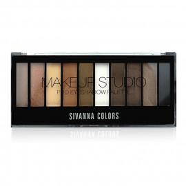 image of Sivanna HF-537 嫵媚動人靚影10色眼影盤 20g #.05 棕澤靚影 Sivanna HF-537 Sivanna Make Up Studio Pro Eyeshadow Palette 20 g