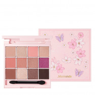 image of 韓國 Mamonde 限量櫻花12色眼影盤   Korea MAMONDE Cherry Blossom Eye Palette
