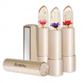 image of Florian 金箔花瓣果凍唇膏 3.8g 多色可選  Florian Flower Jelly Lipstick With Gold Flakes 3.8g