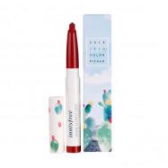 image of 韓國 innisfree 濟州彩墨絲絨唇膏(限定版) 3號0.6g   Korea Innisfree Jeju Color Picker Vivid Slimfit Tint 0.6g #NO.3
