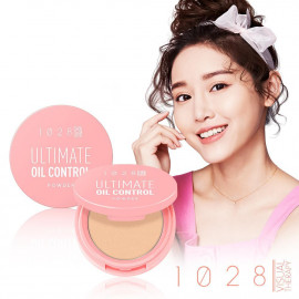 image of 1028 超吸油蜜粉餅(膚色)4.6g       1028 Visual Therapy Ultimate Oil Control Powder 4.6g (Pink Beige)