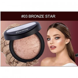 image of 法國 Flormar 獨角獸高光粉餅 03 bronze star  France Flormar Powder Illuminator #03 bronze star