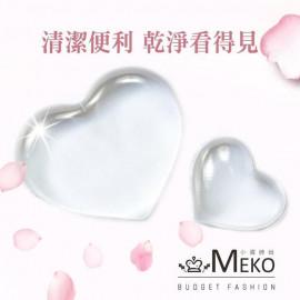 image of MEKO 心型無毒透明粉撲 2入 (附粉撲收納袋)   MEKO BUDGET FASHION Heart Powder Puff