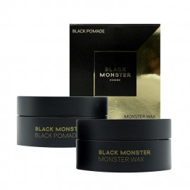 image of BLACKMONSTER 髮蠟&髮油二合一 (50g*2)    BLACKMONSTER Black Pomade & Wax Set: 2-in-1 Superb Styling Pomade and hair wax (50g*2)