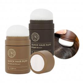 image of 韓國 The Face Shop 自然遮色氣墊髮粉 7g 深棕/自然棕    Korea  The Face Shop Quick Hair Puff 7g Dark Brown/Natural Brown