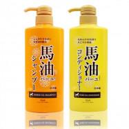 image of 日本LOSHI 馬油保濕滋養洗髮乳/潤髮乳600ml    Japan LOSHI  Horse Oil Shampoo/Conditioner 600ml
