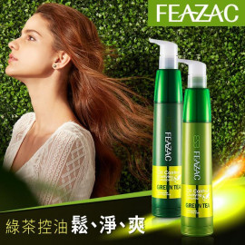 image of 【買就送護髮油】FEAZAC 舒科 綠茶淨化調脂控油洗髮素250ml+護髮素250ml    FEAZAC Oil Control Clarifying Shampoo 250ml + Oil Control Clarifying Conditioner 250ml