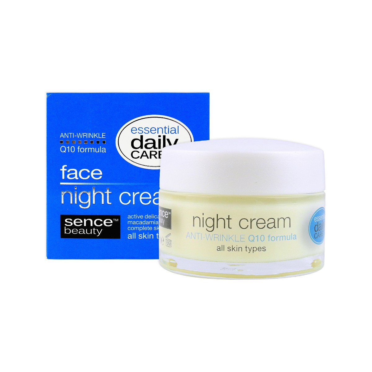 image of 歐洲Sencebeauty Q10緊實煥顏晚霜50ml   Europe Sencebeauty Night Cream Anti Wrinkle Q10 Formula 50ml