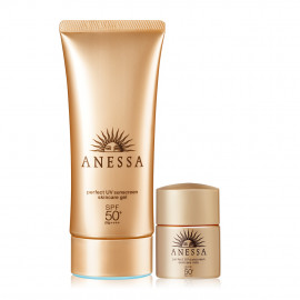 image of SHISEIDO 資生堂 安耐曬 凝膠防曬露特惠組【金鑽高效防曬凝膠N 90g+金鑽高效防曬露SS 12ml】   SHISEIDO  (Anessa Perfect UV Sunscreen Skincare Gel 90g + Perfect UV Sunscreen Skincare Milk mini 12ml)