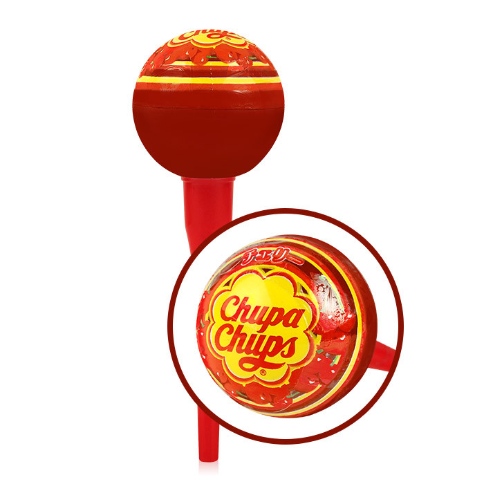 image of Chupa Chups 棒棒糖護唇膏 4g #.04 櫻桃   CHUPA CHUPS X KISS ME LIP BALM 4g  #.04  Cherry